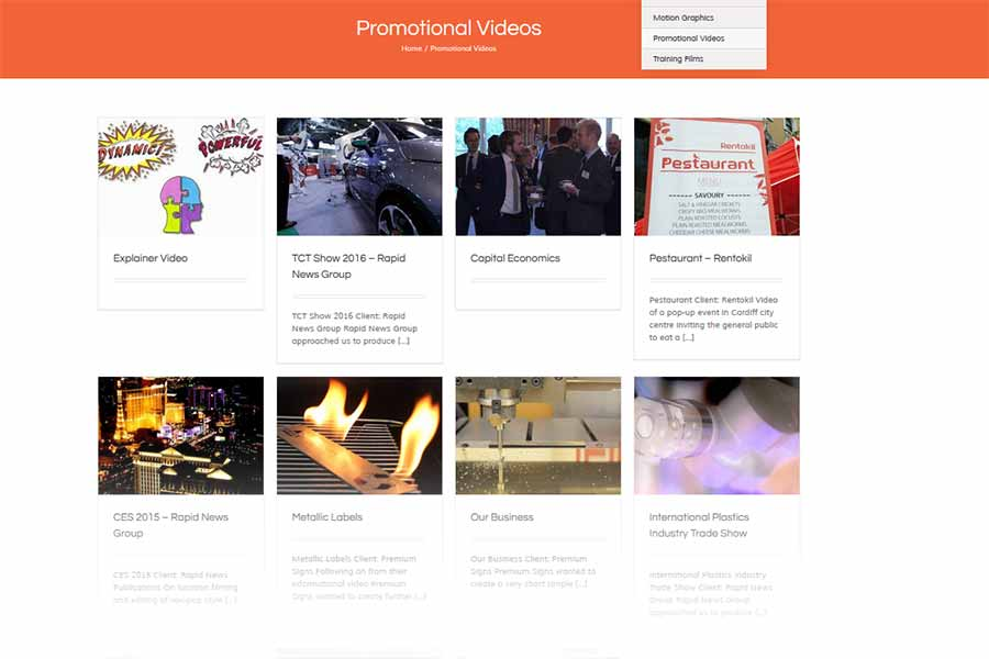 boost video production portfolio